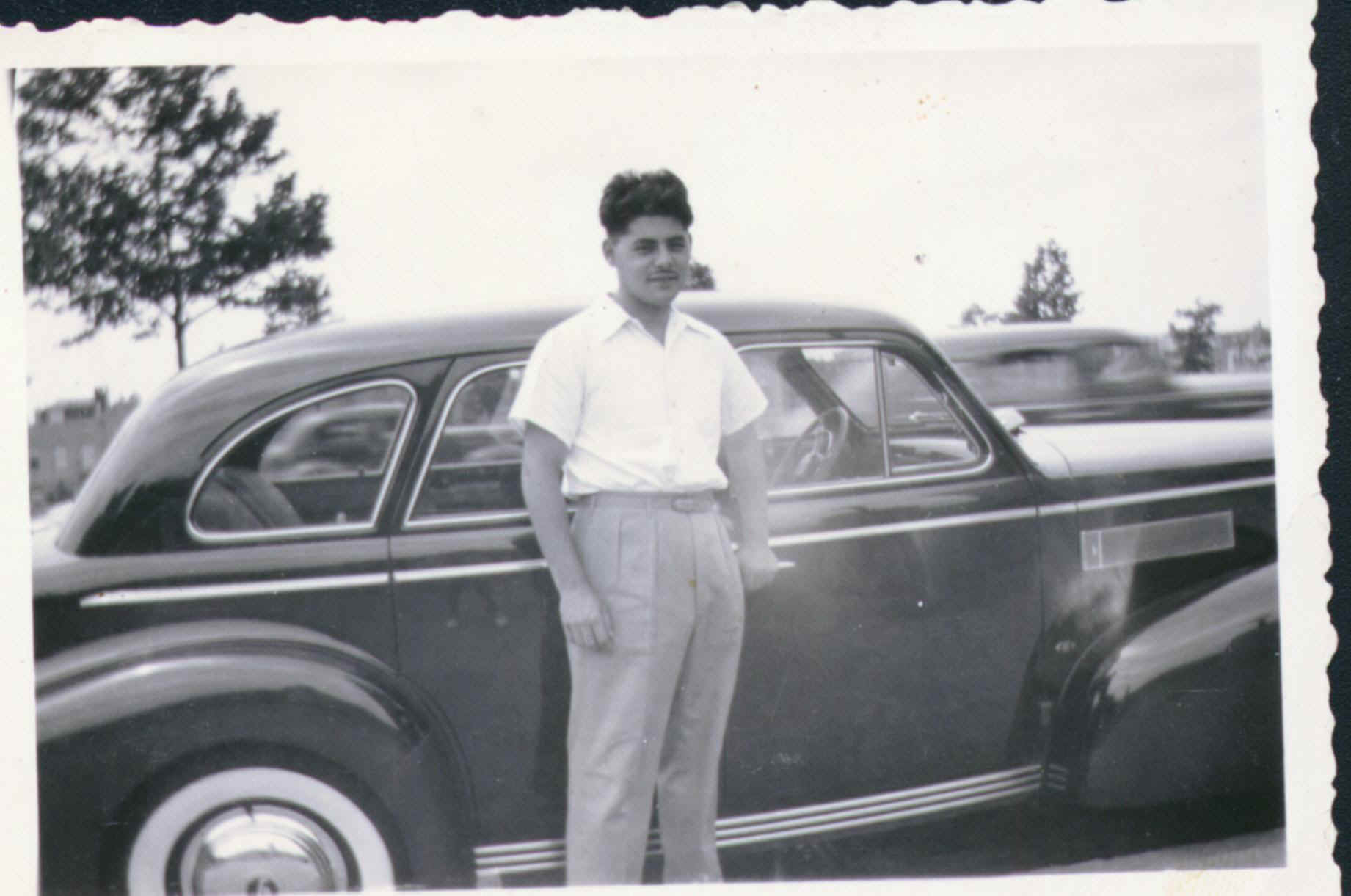 This Is Abe is the 1940's . Sweet Car Grandpa. Those are some fat whitewalls